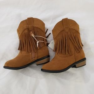 Genuine Kids Size Toddler 8 Toddler Girls/' Mahogany Western Boots